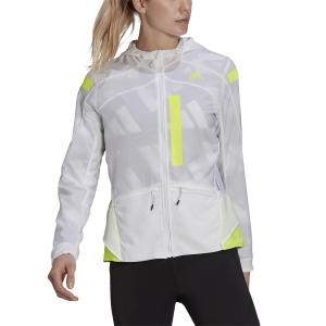 adidas Marathon Translucent Jacket - White/Solar Yellow