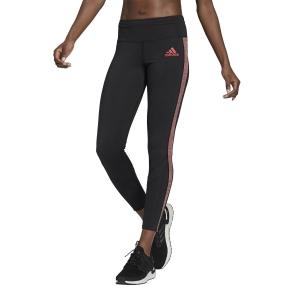 adidas Own The Run Primeblue Tights - Black/Scarlet