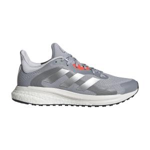 adidas Solar Glide 4 ST - Halo Silver/Crystal White/Solar Red