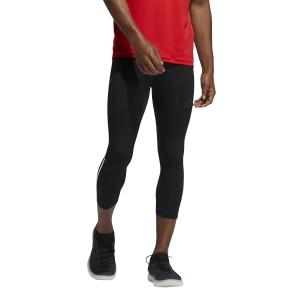 adidas Techfit 3/4 3 Stripes Tights - Black