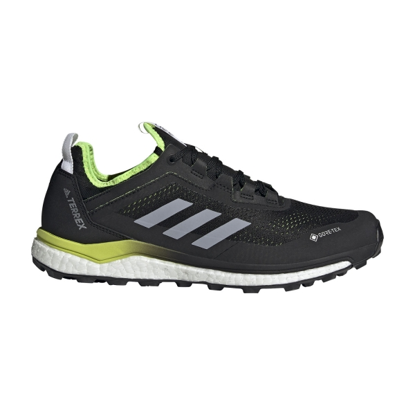 Adidas Terrex Agravic Flow GTX - Core Black/Halo Silver/Solar Yellow