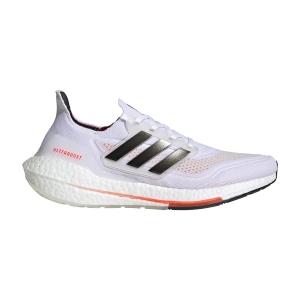 adidas Ultraboost 21 - Ftwr White/Core Black/Solar Red