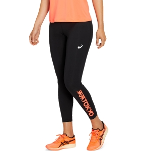 Tight Running Donna Asics Future Tokyo Tights  Performance Black/Sunrise Red 2012B038001
