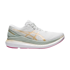Women's Neutral Running Shoes Asics Glideride 2  White/Champagne 1012B002101
