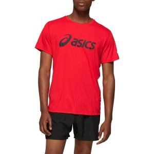 Asics Silver Logo T-Shirt - Classic Red/Dark Grey