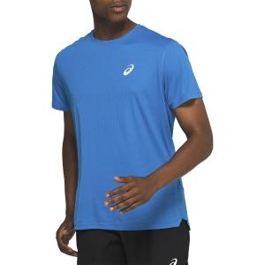 Asics Silver T-Shirt - Race Blue