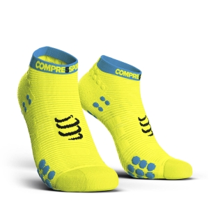 Compressport Pro Racing V3.0 Run Low Socks - Fluo Yellow