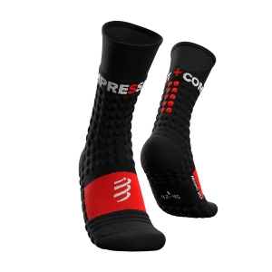 Compressport Pro Racing Winter Run Socks - Black/Red