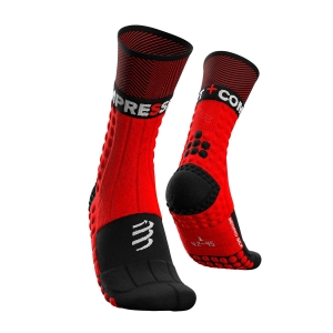 Compressport Pro Racing Winter Trail Calze - Red/Black