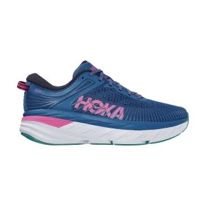Hoka One One Bondi 7 - Vallarta Blue/Phlox Pink