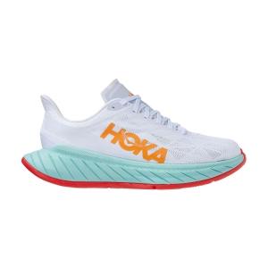 Hoka One One Carbon X 2 - White/Blazing Orange