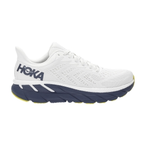 Zapatillas Running Neutras Mujer Hoka One One Clifton 7  Blanc De Blanc/Black Iris 1110509BDBBI