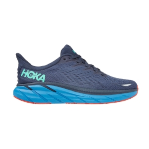 Hoka One One Clifton 8 Wide - Outer Space/Vallarta Blue