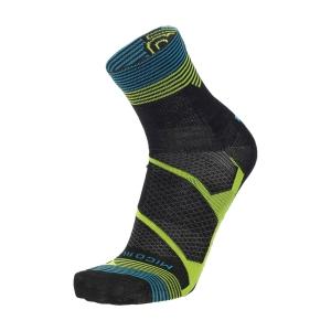 Mico Warm Control Merino Light Weight Socks - Nero/Giallo Fluo