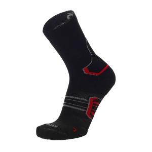 Mico Compression Oxi-Jet Protech Medium Weight Socks - Nero/Ginger