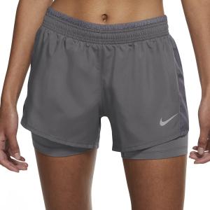 Nike 10k 2 in 1 3in Shorts - Gunsmoke/Wolf Grey