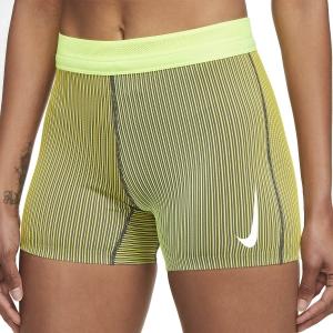 Nike Aeroswift Logo 4in Shorts - Bright Citron/Volt/White