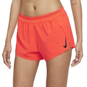 Nike Aeroswift 3in Shorts - Bright Crimson/Black