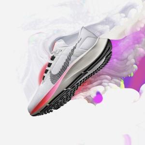 Nike Air Zoom Pegasus 38 - White/Black/Football Grey/Pink Blast
