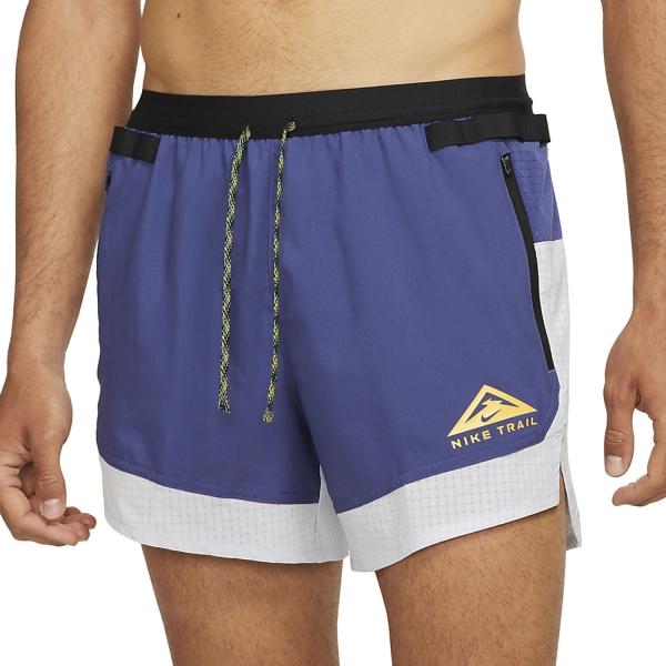 Nike Dri-FIT 5in Flex Stride Shorts - Ghost/Dark Purple/Dust/University Gold