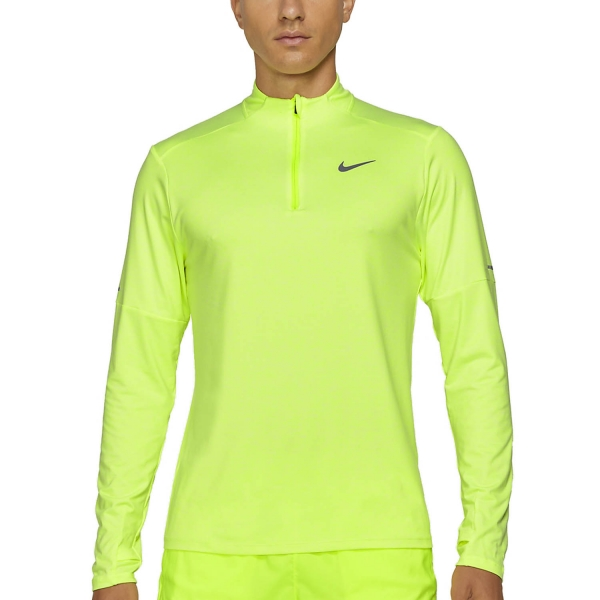 Nike Dri-FIT Element Logo Shirt - Volt/White/Reflective Silver
