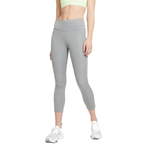 Nike Dri-FIT Fast 3/4 Tights - Smoke Grey Heather/Reflective Silver