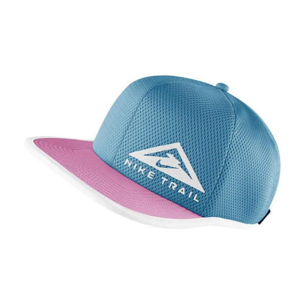 Nike Dri-FIT Pro Trail Cap - Turquoise Blue/Pink Glow