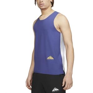 Nike Dri-FIT Rise 365 Tank - Ghost/Dark Purple/Dust/Reflective Silver