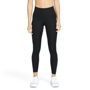 Nike Dri-FIT Swoosh Run 7/8 Tights - Black/White