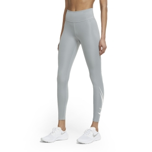 Nike Dri-FIT Swoosh Run 7/8 Tights - Particle Grey/White