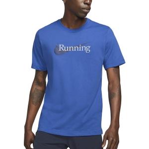 Nike Dri-FIT Run T-Shirt - Game Royal/Black