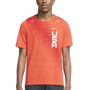 Nike Team USA Dri-FIT Rise 365 Camiseta - Chile Red/Reflective Silver