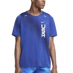 Nike Team USA Dri-FIT Rise 365 Camiseta - Deep Royal Blue/Reflective Silver