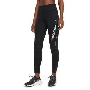 Nike Tokyo Epic Fast 7/8 Tights - Black/Green Glow