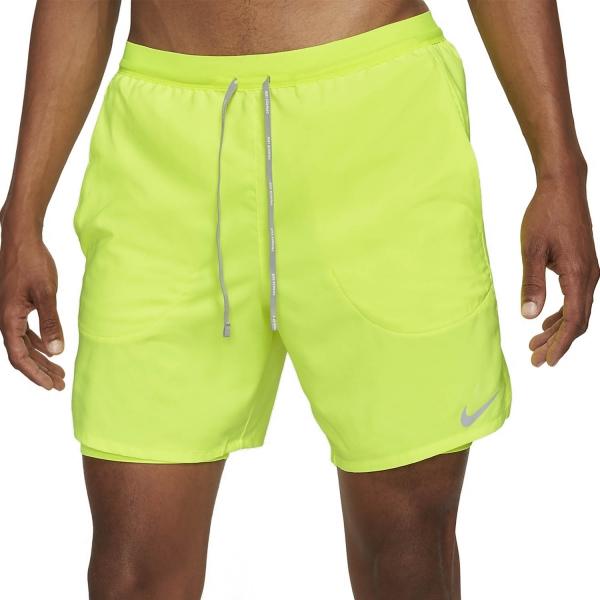 Nike Flex Stride 2 in 1 7in Shorts - Volt/Reflective Silver