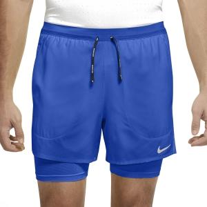 Nike Flex Stride 2 in 1 5in Pantaloncini - Game Royal/Reflective Silver