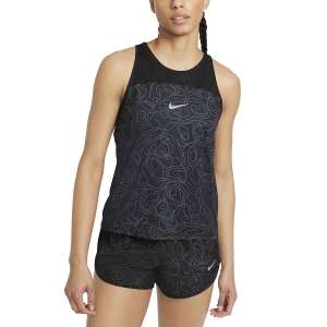 Top Running Mujer Nike Miler Run Division Top  Black/Reflective Silver DA1248010