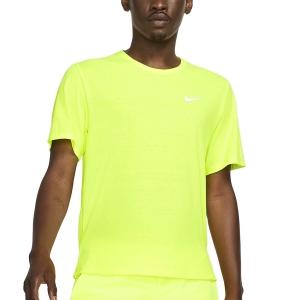 Nike Miler Wild Run Classic Camiseta - Volt/Reflective Silver