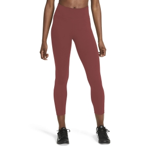 Tight Running Donna Nike One Mid Rise 7/8 Tights  Canyon Rust/White DD0249691