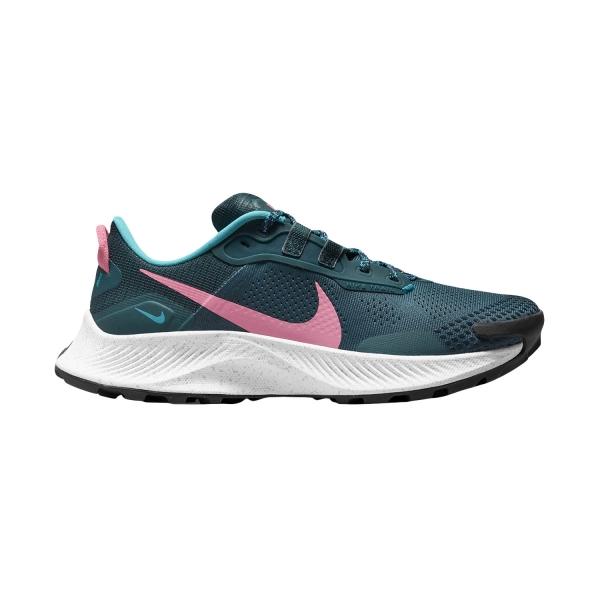 Nike Pegasus Trail 3 - Dark Teal Green/Pink Glow/Armory Navy
