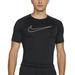 Nike Pro Logo T-Shirt - Black/White