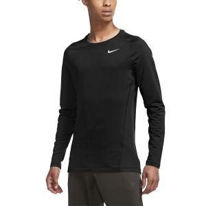 Nike Pro Warm Shirt - Black/White