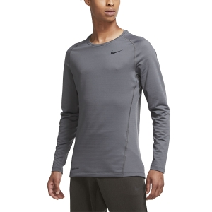 Nike Pro Warm Shirt - Iron Grey/Black