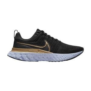 Nike React Infinity Run Flyknit 2 - Black/Metallic Gold/Ghost/Dark Smoke Grey