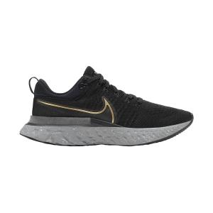 Nike React Infinity Run Flyknit 2 - Black/Metallic Gold/Smoke Grey