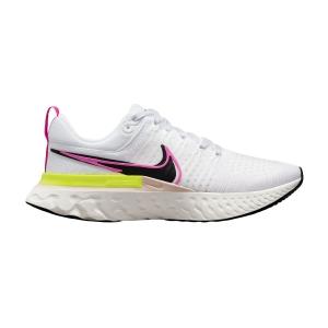 Nike React Infinity Run Flyknit 2 - White/Black/Sail/Pink Blast
