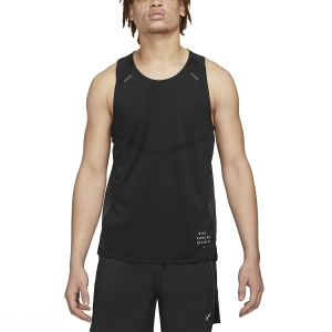 Men's Running Sleeveless Nike Rise 365 DriFIT Tank  Black/Reflective Silver DA1303010