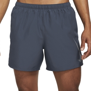 Nike Run Division Challenger 5in Shorts - Thunder Blue/Reflective Silver