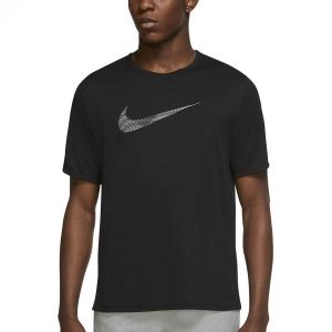 Nike Run Division Miler T-Shirt - Black/Reflective Silver