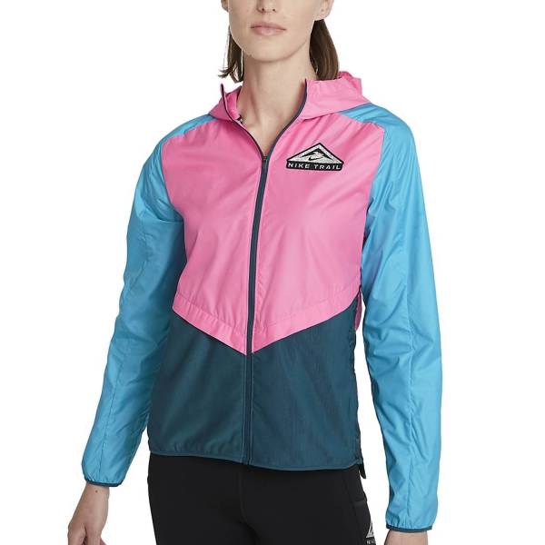 Nike Shield Jacket - Pink Glow/Turquoise Blue/Black